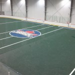 View of the Toronto Rock Practice Turf from the Gym